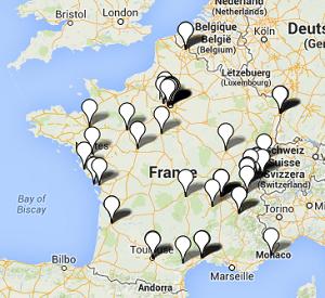 Carte des détaillants de vélos électriques en France