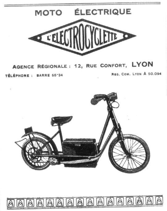Vélo électrique Electrocyclette.